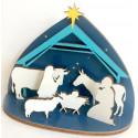 Crèche de Noël en bois - à assembler