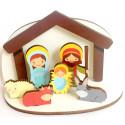 Crèche de Noël en bois pour enfants - à assembler