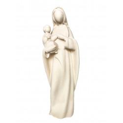 Statue moderne Vierge à l'enfant bois naturel