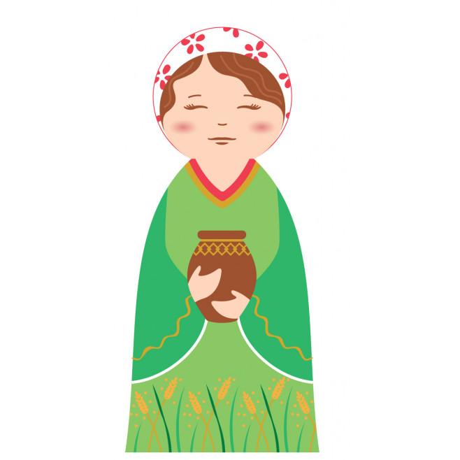 Ruth - Crèche de Noël en bois tourné