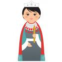 Esther - Crèche de Noël en bois tourné