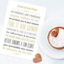 """Carte """"Jour de Baptême"""""""