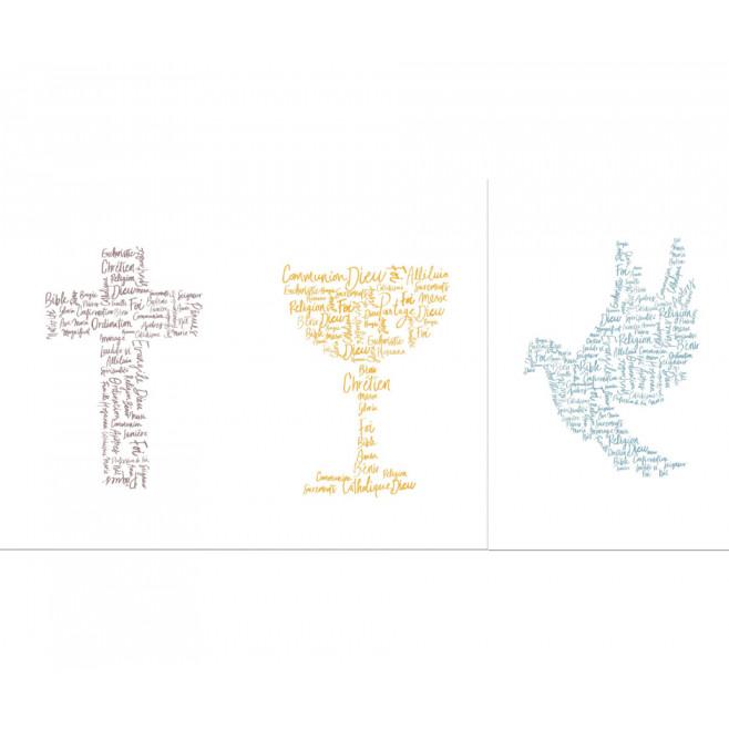 Cartes simples Au fil des mots - KITCARTESIMPLE10