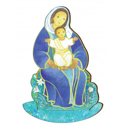 Figurine en bois Maite Roche - Vierge Mère