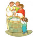 Figurine en bois Maite Roche - le baptême.
