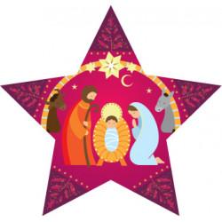 Décoration de noël - Nativité étoile violet