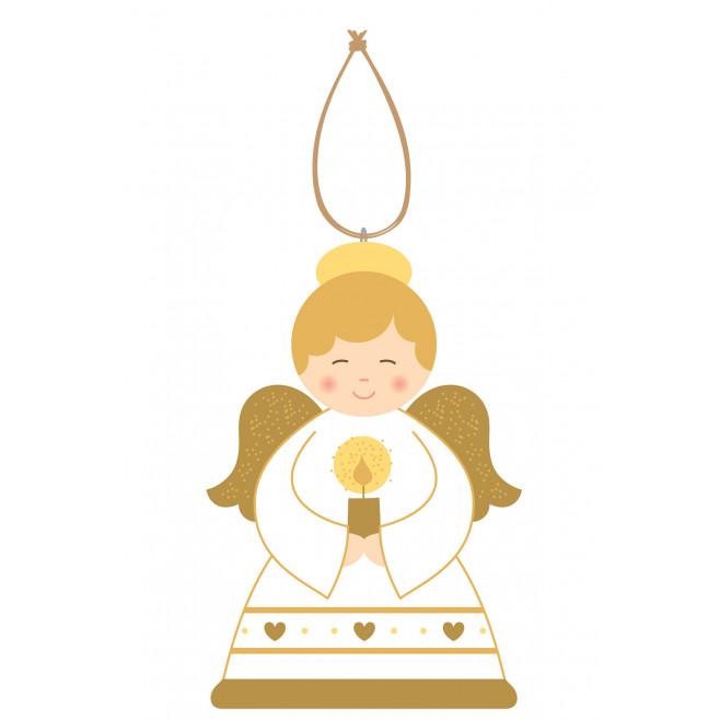 Décoration de noël - Suspension Ange à la bougie