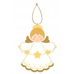 Décoration de noël - Suspension Ange aux étoiles
