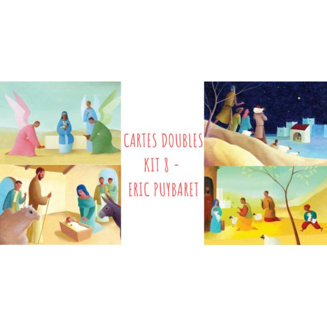 4 cartes doubles Noel Eric Puybaret - Kit 8