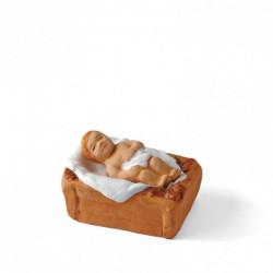 Jésus et son berceau  - Arterra - 7cm - blanc