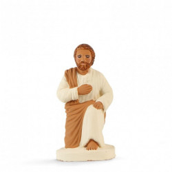 Joseph à genou  - Arterra - 7cm - blanc