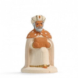 Roi mage à genou - Arterra - 7cm - blanc