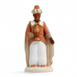 Roi mage noir Balthazar - Arterra - 7cm - blanc