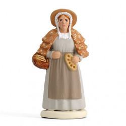 Femme à la fougasse - Arterra - 7cm - blanc