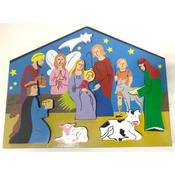 Puzzle Nativité à encastrer