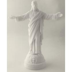 Statue Sacré Coeur des Familles en albâtre - 17cm