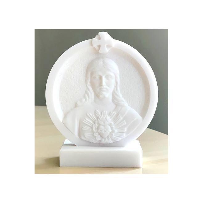 Statue Cadre Sacré Cœur de Jésus e en albâtre