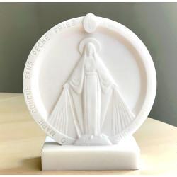 Statue Cadre Vierge Miraculeuse en albâtre