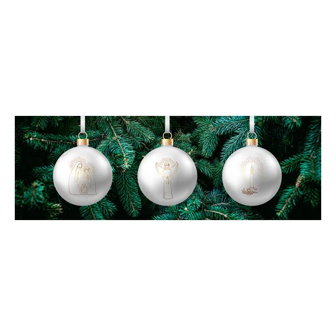3 Boules de Noël - Au fil de la plume