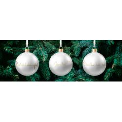 3 Boules de Noël en verre - Au fil de la foi