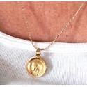 Chaine plaqué or avec médaillon Vierge