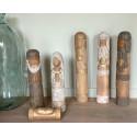 Grande crèche en bois - 6 personnages