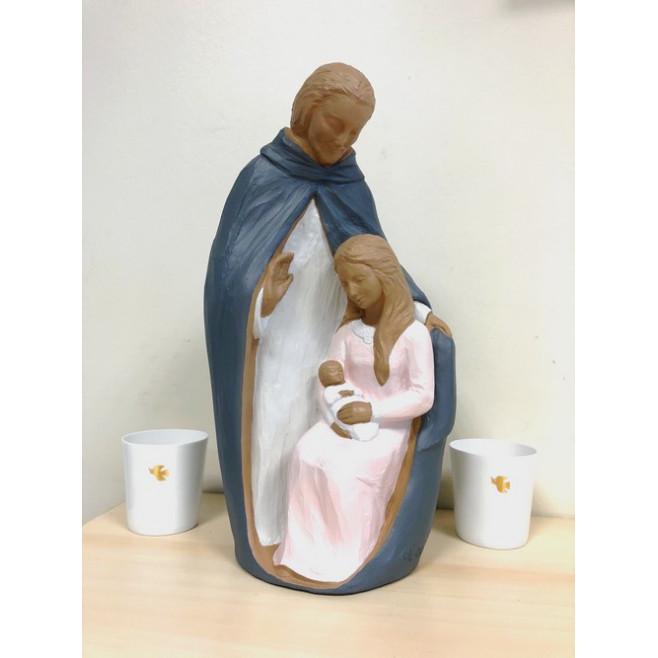 Statue moderne Sainte Famille en albatre
