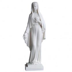 Statue Notre Dame des roses en albâtre 27cm
