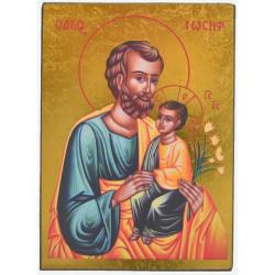 ICONE RELIGIEUSE OR - 9x12.5 St Joseph à l'enfant