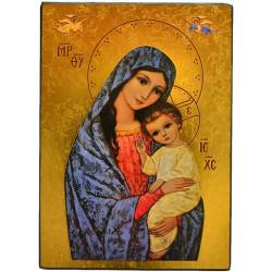 ICONE RELIGIEUSE OR - 16.5x19 Vierge de la lumière
