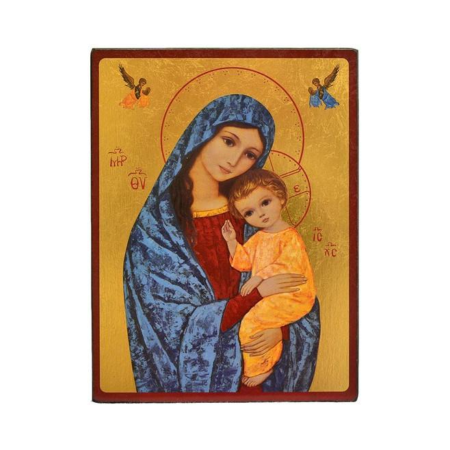 ICONE RELIGIEUSE OR - 12x15.5 - Vierge de la lumière