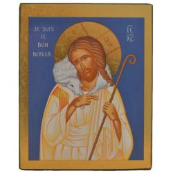 ICONE RELIGIEUSE OR - 10x12.5 - Le bon berger