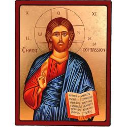 ICONE RELIGIEUSE OR - 13x17 - Christ de la compassion