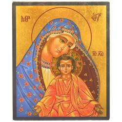 ICONE RELIGIEUSE OR - 19.5x24 - Vierge au manteau