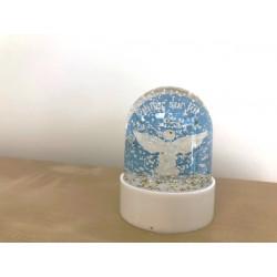 Boule à paillettes Ange bleu