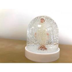Grande Boule à paillettes Vierge miraculeuse lumineuse