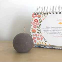 Bougie ronde - 6cm - taupe