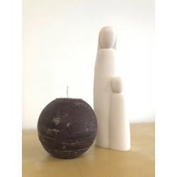 Bougie ronde - 10cm - chocolat