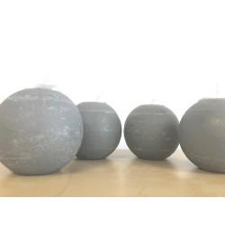 Bougie ronde - 10cm - gris clair