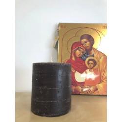 Bougie cylindrique - H11cm - chocolat