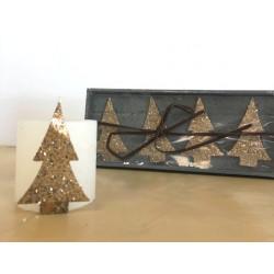 Lot de décoration de bougies - Sapin - 6cm