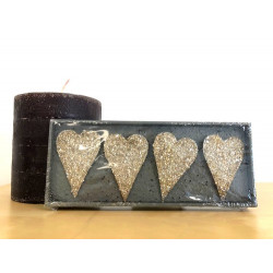 Lot de bijoux de bougies - Coeur - 6cm