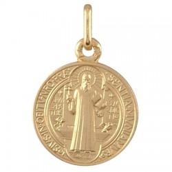 Médaille Saint Benoît plaqué or